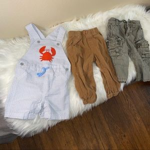18-month Toddler Boy Lot Overalls & Pants Corduroy